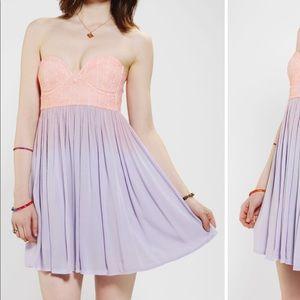 COPYCAT Strapless Ombré Dress